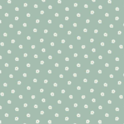 Jerse Bumbac Organic digital - Small Flower Mint