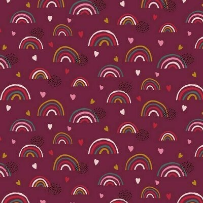 Jerse Bumbac organic - Rainbow Purple