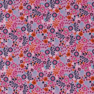 Jerse bumbac - Spring Floral Pink