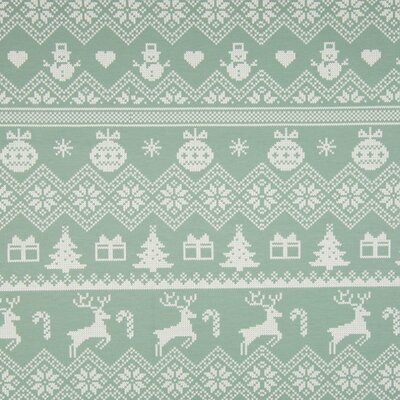Jerse french terry brushed - Xmas Knit Mint