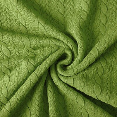 Jerse Jacquard Cable Knit - Lime Green