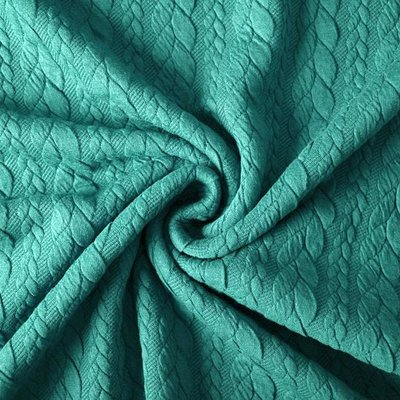 Jerse Jacquard Cable Knit - Sea Green