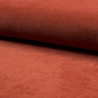 Jersey velur Fine Rib - Terra
