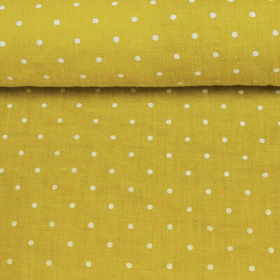 Material 100% In prespalat - Mini Dots Lemon
