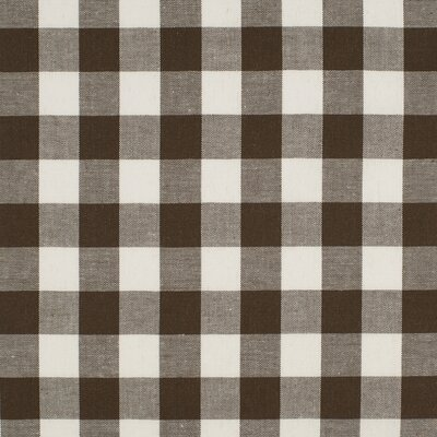 Material bumbac - Gingham Brown 20mm