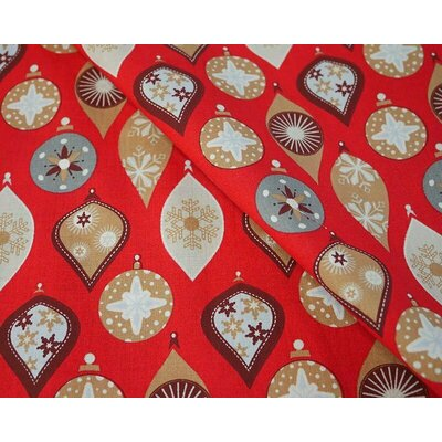 Material bumbac - Globes Red