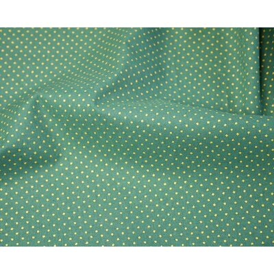 Material bumbac - Metallic Pin Spot Green