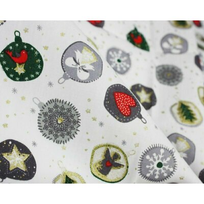 Material bumbac - Xmas Bauble White