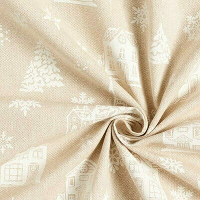 Material Canvas Lurex - Winter Scene