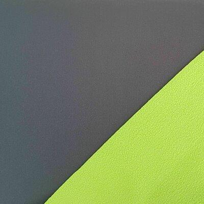 Material cu doua fete Fleece si Soft Shell - Grey/Kiwi