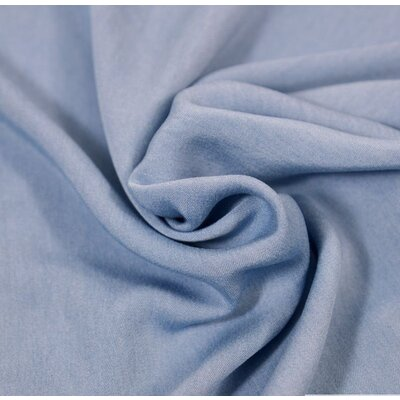 Material denim Chambrai Viscose - Light Blue