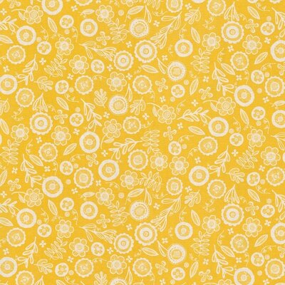 Material Home Decor - Folklore Floral Yellow