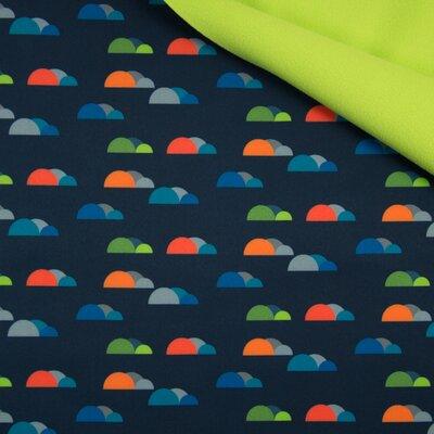 Material impermeabil si calduros Soft Shell - Fancy Clouds Navy