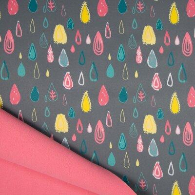Material impermeabil si calduros Soft Shell - Raindrops Grey