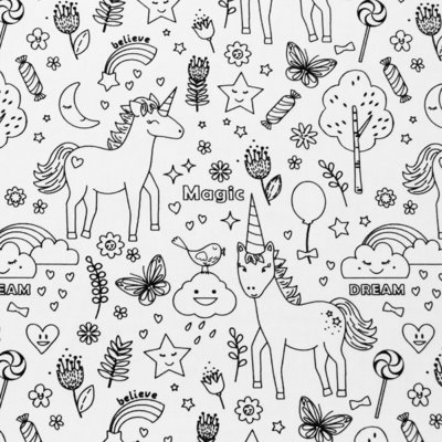 Material textil de colorat - Believe