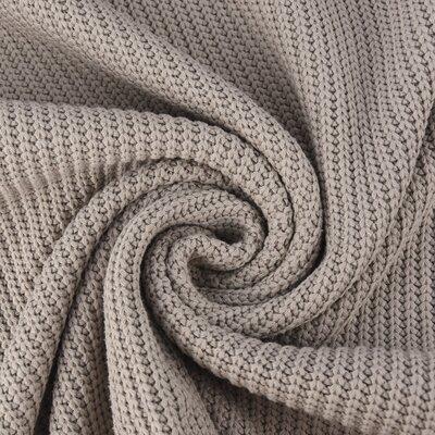 Material tricotat din bumbac - Beige