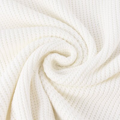 Material tricotat din bumbac - Ivory