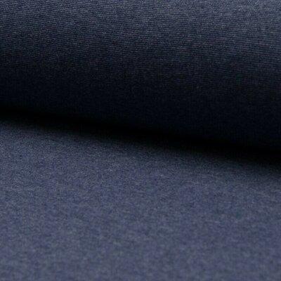 Material tubular Rib pentru mansete - Jeans Melange