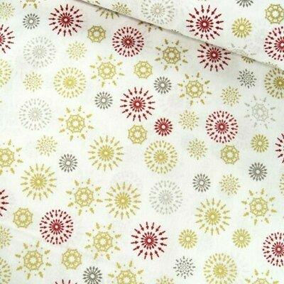Metallic Snowflakes Cream - ultima bucata!  70 x 140 cm