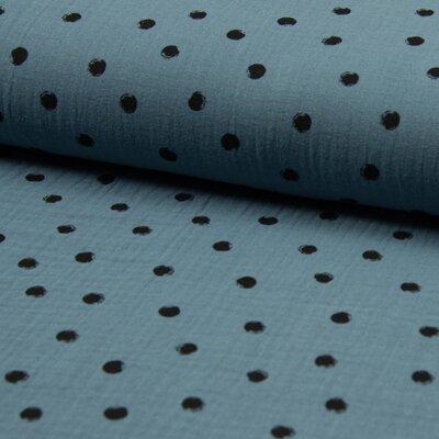 Muselina Bambino - Dots Dusty Blue