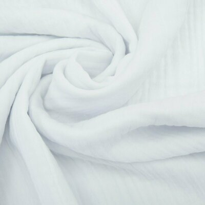Muselina triplu strat 185 gr/mp - White
