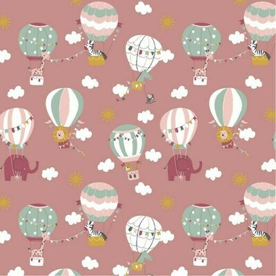 Poplin Brushed - Fly With Me Blush