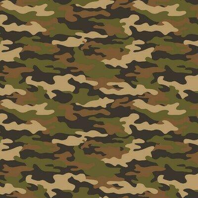 Poplin imprimat - Army Camouflage Beige