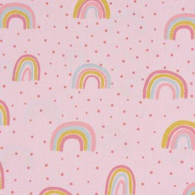 Poplin imprimat - Glitter Rainbow Rose
