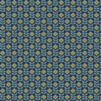 Poplin imprimat - Graphic Flowers Navy