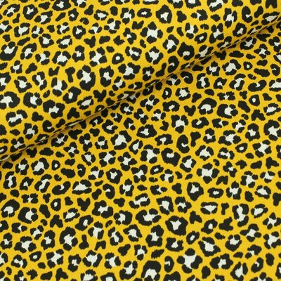 Poplin imprimat - Leopard Yellow
