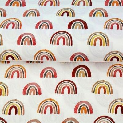 Poplin imprimat - Rainbow Nursery Terra