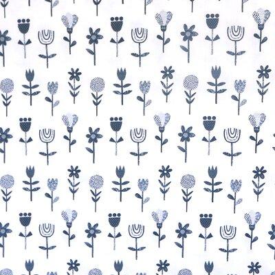 Poplin imprimat - Scandic Flower White