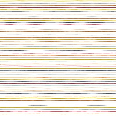 Poplin imprimat - Space Stripes White