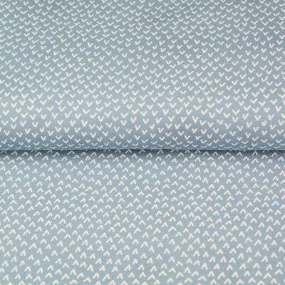 Poplin imprimat - Ticks Blue