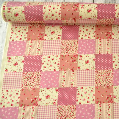 Poplin - Patchwork Pink