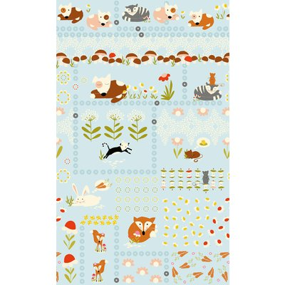 Sleepy Animals- Panou Textil 60 cm