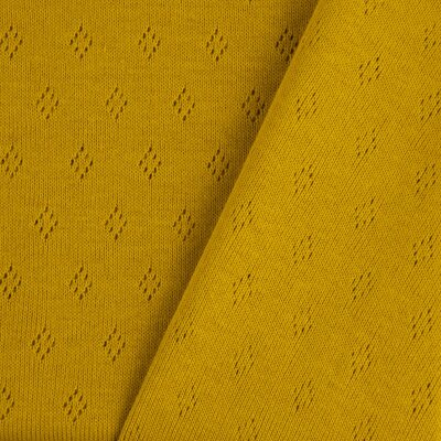 Tricot 100% bumbac - Pointoille Ochre
