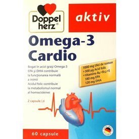 Doppelherz Aktiv Omega-3 Cardio, 60 capsule