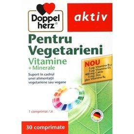Doppelherz Aktiv Pentru Vegetarieni Vitamine + Minerale,  30 comprimate
