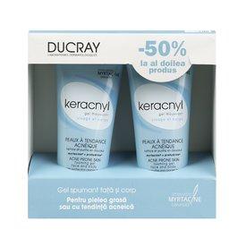 Ducray Keracnyl Gel Spumant 200ml + 200ml Promotie