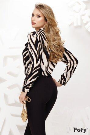 Bluza dama Fofy eleganta animal print cu funda maxi