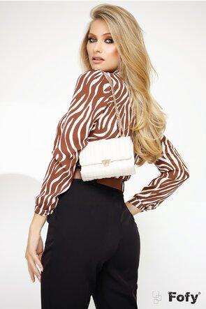 Bluza Fofy cu jabou si imprimeu zebra