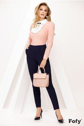 Camasa de dama Fofy roz cu platca