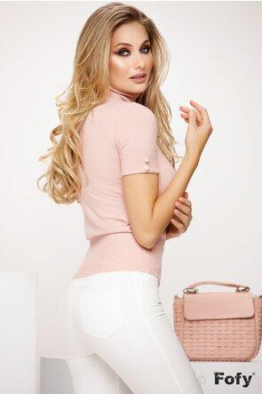 Helanca eleganta dama roz cu perlute