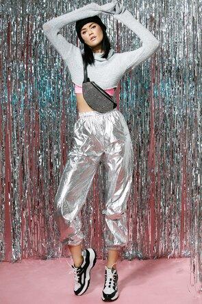 Pantaloni lungi silver