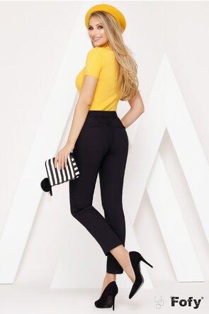 Pantaloni negri drepți cu linie clasica