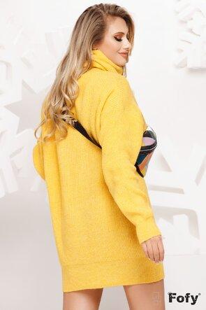 Pulover dama oversize galben