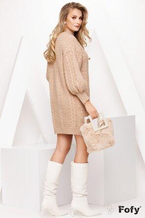 Rochie de dama tricotata bej
