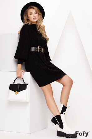 Rochie de dama tricotata neagra