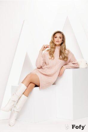 Rochie de dama tricotata roz